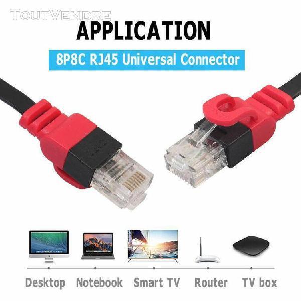 Câble ethernet plat cat6 réseau fil lan rj45 câble 10gbps