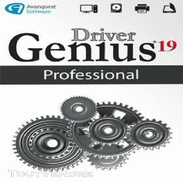 driver genius 19 professional - logiciel en téléchargement