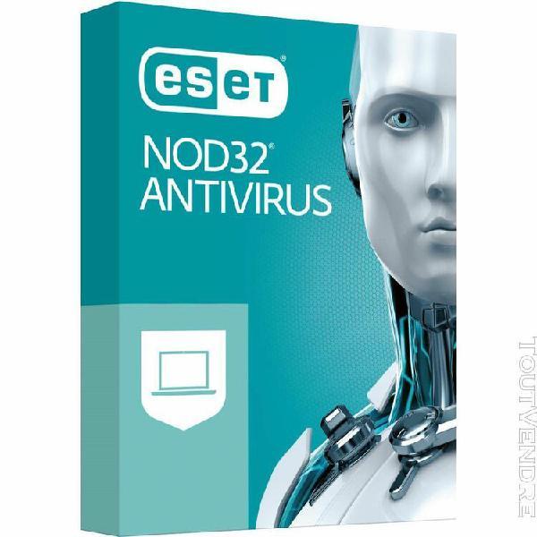 logiciel sécurité eset nod32 antivirus 2019 - 1 an / 3 pc