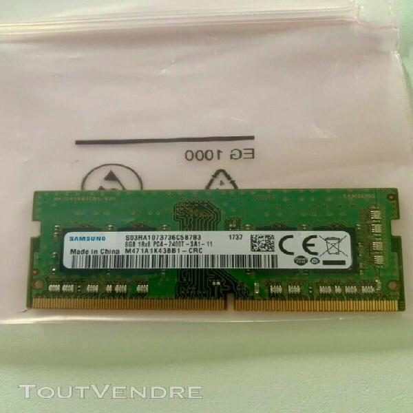 Samsung 8gb sodimm ddr4 pc4-2400t-sa1-11 2400 mhz m471a1k43b