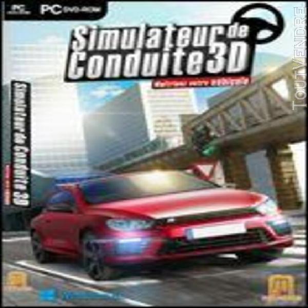 simulateur de conduite 3d - maitrisez votre véhicule - pc -
