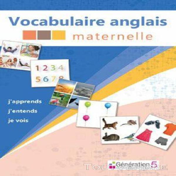 vocabulaire anglais maternelle - logiciel en