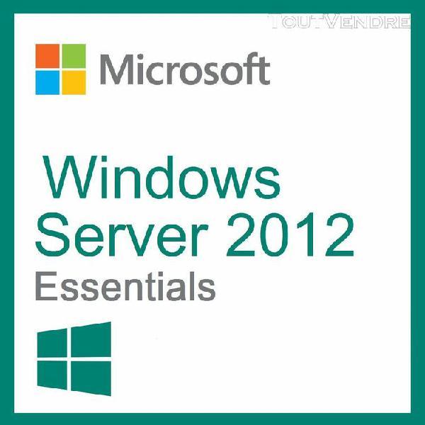"""windows server essentials 2012 / """"version dématérialisée"""""""