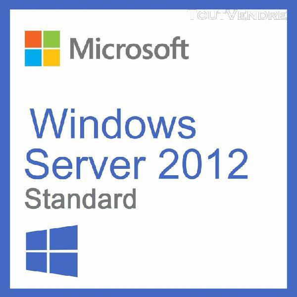 """windows server standard 2012 / """"version dématérialisée"""""""