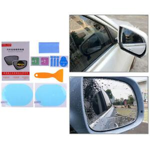 2x rainproof car rearview mirror sticker anti-fog protective