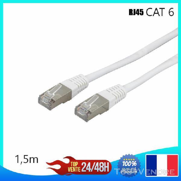 Cable reseau ethernet rj45 cat 6 de 1,5 m mètres ordinateur