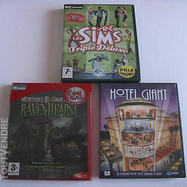Lot de 3 jeux pc