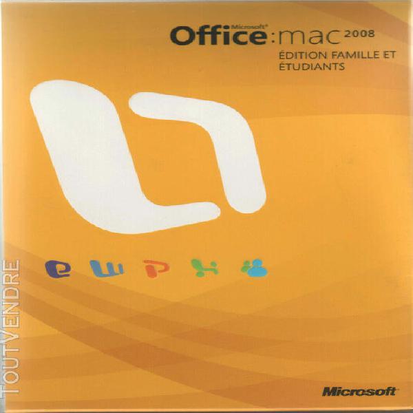 Microsoft office 2008 mac famille & etudiant sans boite (3 l