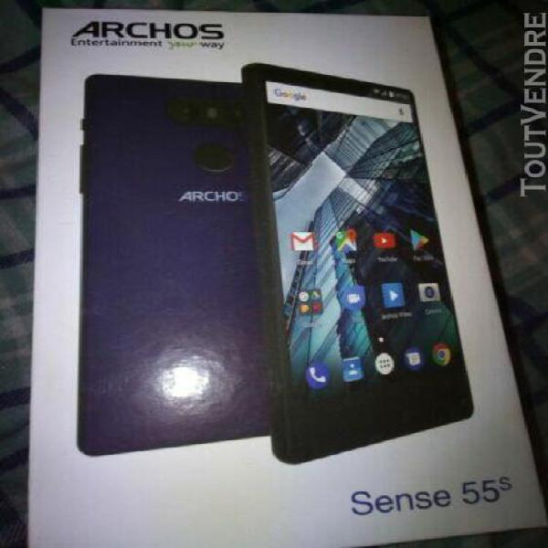 Archos sense 55s full hd 100% comme neuf,garantie 22 mois.