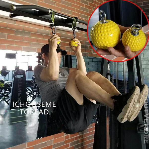 Climbing pull up power ball hold grips durable strength trai