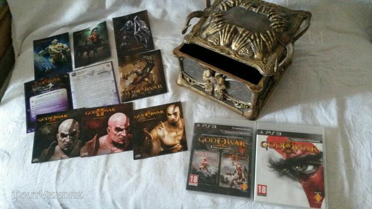 Collector god of war playstation 3 trilogy pandora box avec
