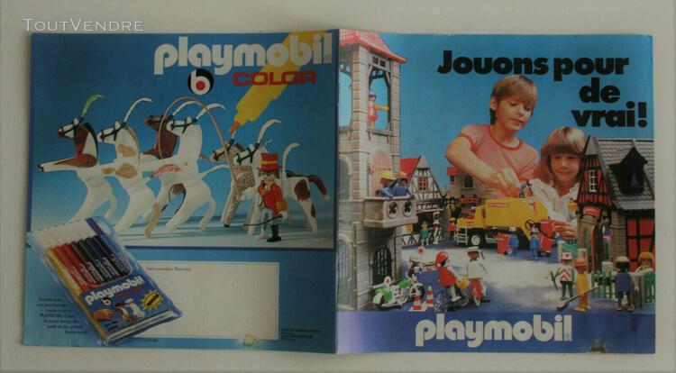 """Playmobil - catalogue """" jouons pour de vrai """" 1979"""