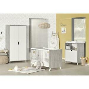 Babyprice - scandi gris - lit bebe 120 x 60 - baby price