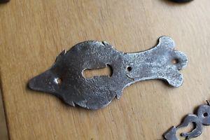 Entree serrure haut 16 cms loquet ancien clenche fer forge