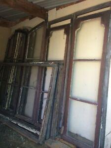 Exceptionnel ensemble de portes et fenêtres 19ème
