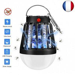 Lampe anti moustique électrique lampe camping solaire 2 en