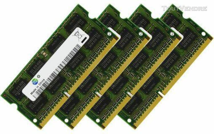 Mémoire ram 32 go (4 x 8 go) sodimm 1333 mhz ddr3 pc3-10600