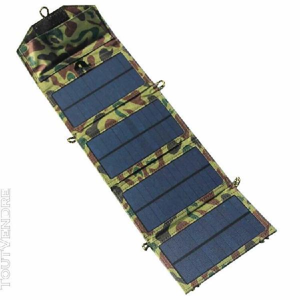 Nouveau 7w extérieur panneau solaire pliable chargeur