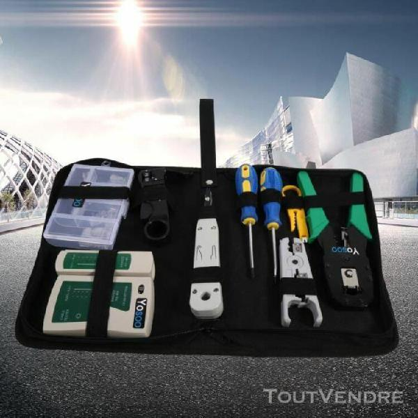 Rj45 rj11 testeur de réseau kit outil de câble