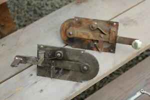 Serrure loquet ancien clenche fer forge porte ancienne