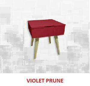 Table de chevet ou bout de canapé au design rétro