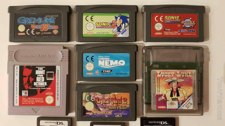 13 jeux gameboy / gba et ds (sonic, disney,mario, zelda, p