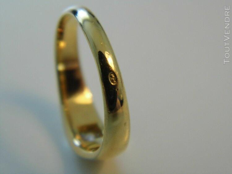 Bague or jaune 18k solitaire diamant 0,15 cts env taille 53