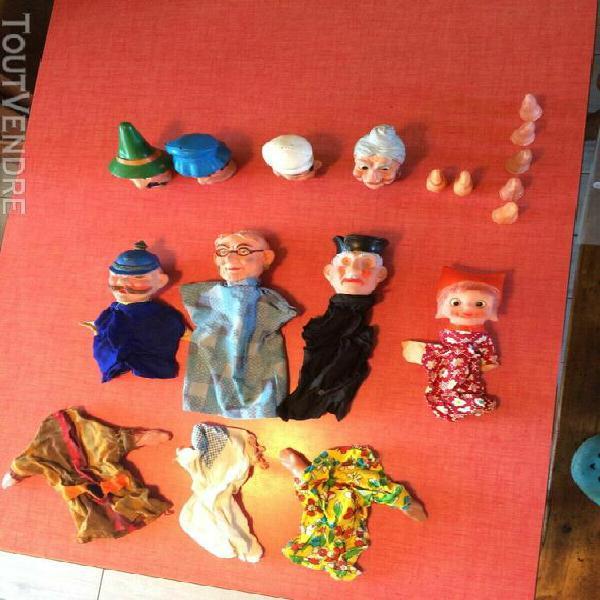 Joli lot de marionnettes vintages