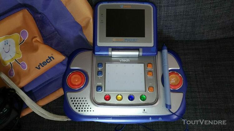 Lot console vsmile vtech pocket + 11 jeux + chargeur + sac d