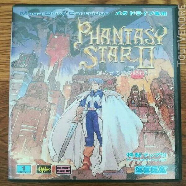 Phantasy star ii 2 sega mega drive jap game complete great c