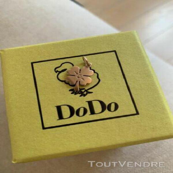 Trèfle à quatre feuilles, dodo, or rose