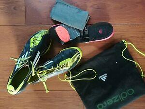 Adidas f50 noir jaune moule taille 45 1/3 om psg barca real