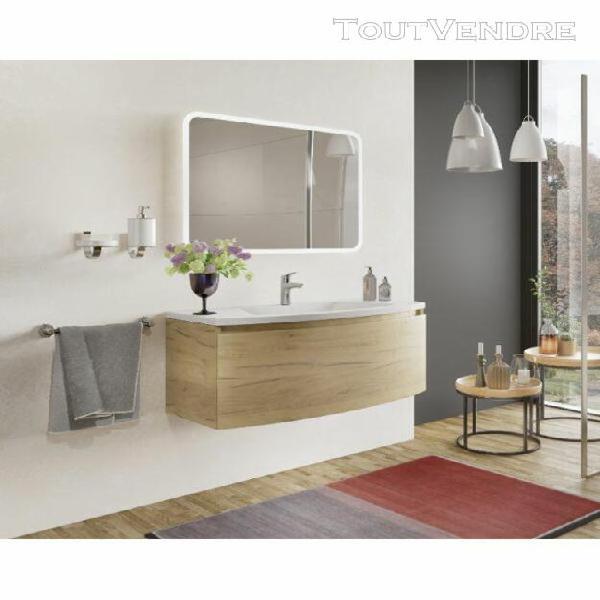 meuble de salle de bain suspendu 100 cm venere en bois roble