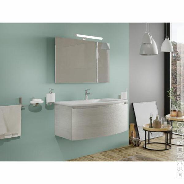 meuble de salle de bain suspendu 80 cm venere en bois nordiq