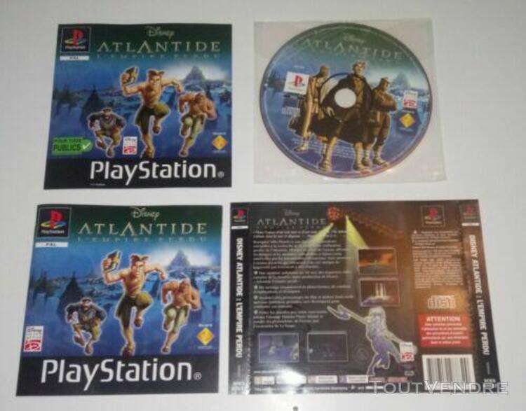 Disney atlantide - l'empire perdu, playstation ps1 pal fr sa
