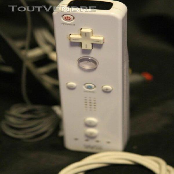 Nintendo wii blanche complète + manette + 1 jeu