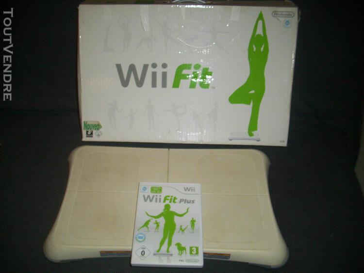 Wii fit plus + balance board nintendo wii en boîte