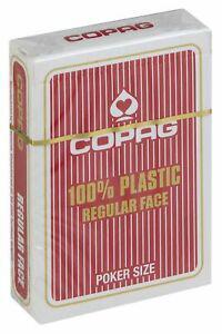 1 paquet de 55 cartes copag 100% plastique regular index