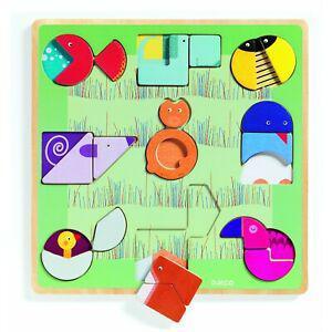 1 puzzle éducatif à formes ludiform - djeco - (3 ans+)