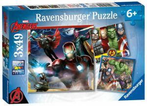 1 puzzle triple marvel avengers - 3 x 49 pièces - (6 ans+)