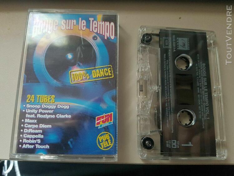 Cassette dance bouge sur le tempo compilation 1994