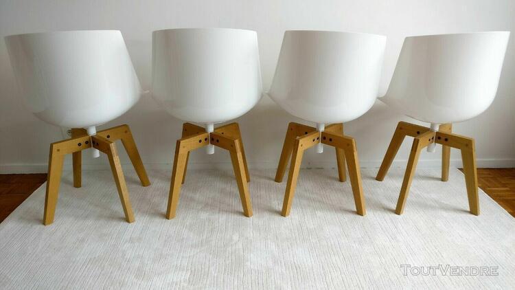 4 superbes chaises flow de jean-marie massaud pour mdf itali