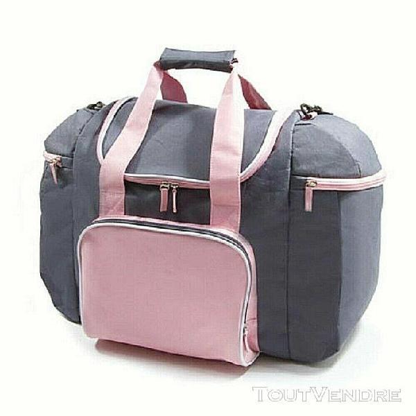 Sac sport léger et spacieux rose et gris - pink women's