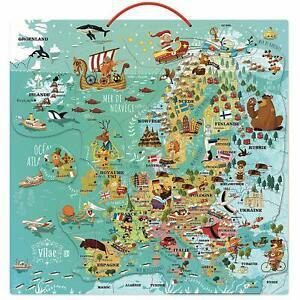 1 carte d'europe magnétique vilac - (7 à 12 ans) neuf