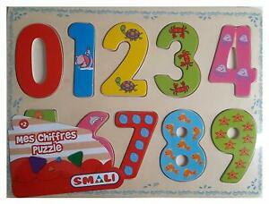 1 puzzle à encastrements - mes chiffres - smali - (12