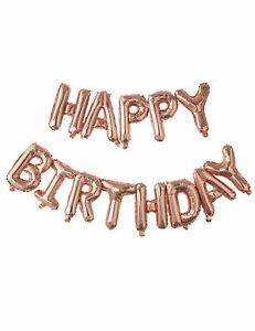 Ballons lettres happy birthday rose gold 1,5 m cod.278137