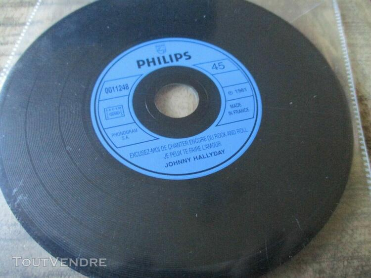 Johnny hallyday-rare cd-excusez moi...format 45t-erreur de m