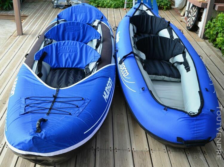 lot 2 kayak sevylor hudson + sirocco + 4 pagaies + gonfleur