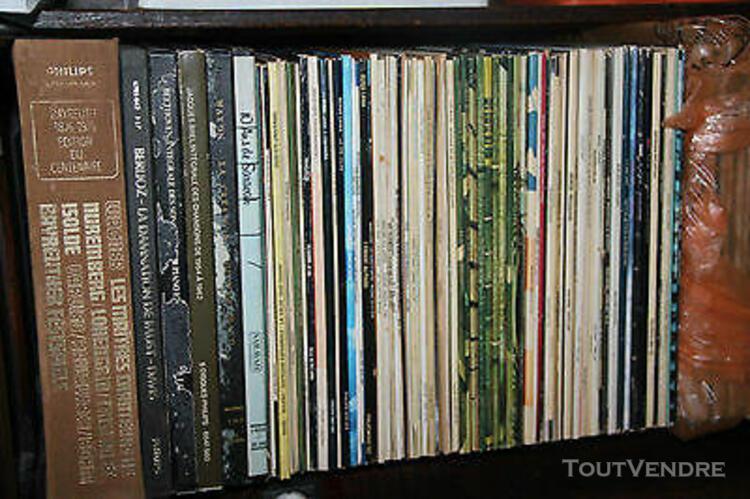 Lot 250 lp vinyle 33t & 45t chanson variété française,