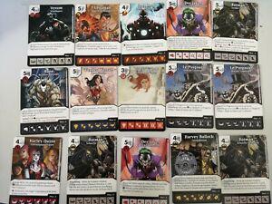 Lot 48 cartes marvel dice masters (numéroté sur 142)